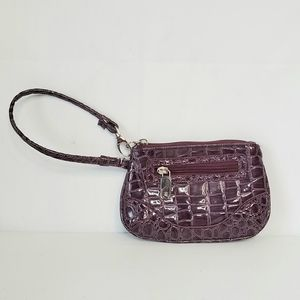 NY & Co. Small Faux Croc Embossed Leather Wristlet